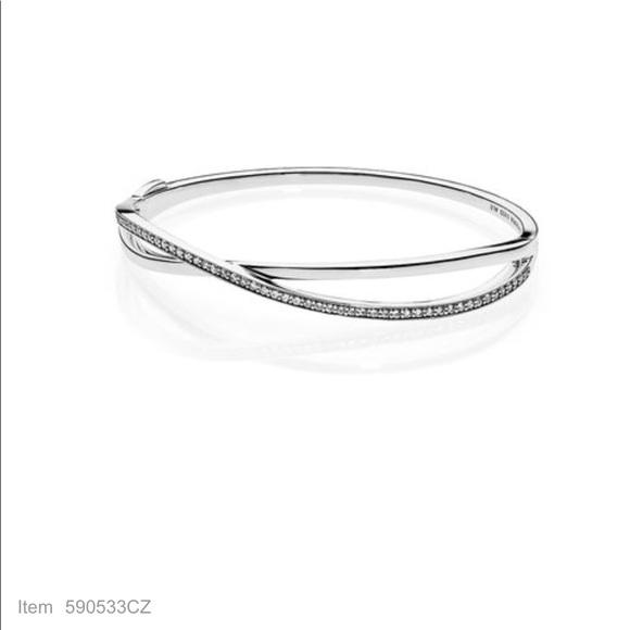 f38fe297c Pandora Jewelry | Entwined Bangle Bracelet Clear Cz | Poshmark